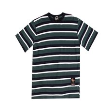 [에잇볼륨] [에잇볼륨]EV 3Color Stripe Tee Green