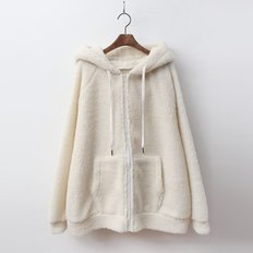 Teddy Bear Hood Zip-Up Jumper