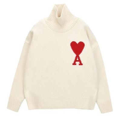 [아미]PULL AMI COEUR_OFF-WHITE