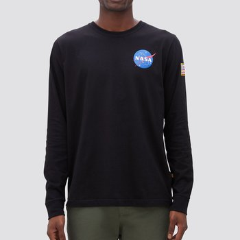 SPACE SHUTTLE LONG SLEEVE TEE BLACK