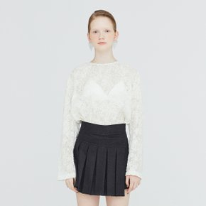 [가브리엘리] 19FW SHEER FIL COUP? BASIC BLOUSE - WHITE