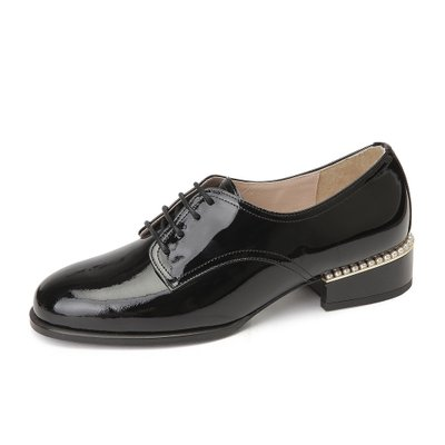 Pearl race-up loafer(블랙)_DG1DX18017BLK