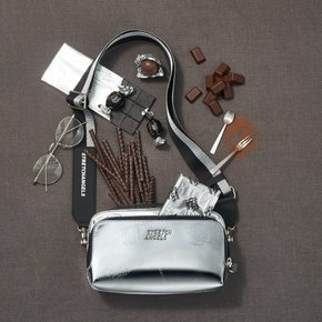 ★SUMR02911★S.A Panini mix pattern press bag_SILVER
