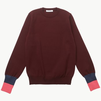 TURN UP CUFF KNIT BROWN