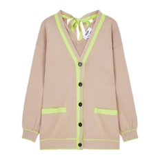 공식[MSGM] W_Double Cotton Knit Cardigan (BEIGE)