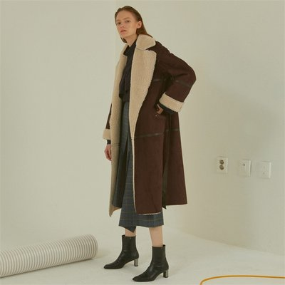 [MUSEE]Marcel faux-shearing mustang coat_brown (1941000)