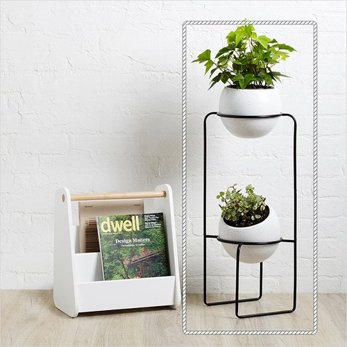 Nesta Tiered-White Planter Stand 화분 받침대 선반