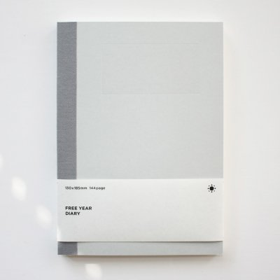 (만년형) 백상점 FREE YEAR DIARY_light gray