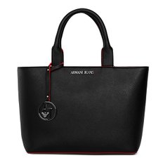 ARMANI JEANS 알마니 진 922531 CD856 00120 WOMAN TOTE BAG BLACK/RED 토트백