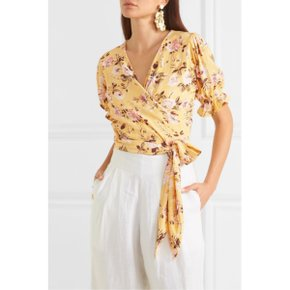 Faithfull The Brand MALI WRAP TOP_POMELINE FLORAL