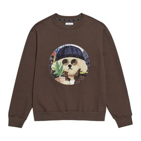 [기모]MOVIE MAN DOG PATCH SWEAT-SHIRTS 2019FW BROWN (3551625)