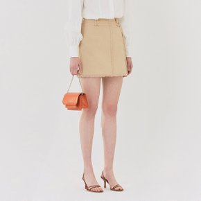 [가브리엘리] 19SS POCKET DETAIL MINI SKIRT WITH BELT - BEIGE