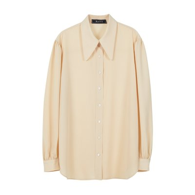 [레이브]Big Collar Shirt in Beige_VW0SB1140