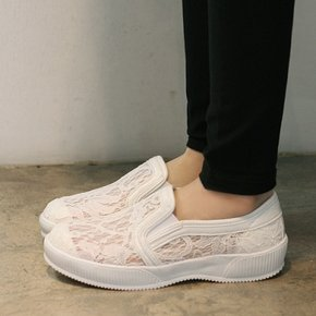 국내생산 Comfort outsole lace slip on sneakers_KM15s137