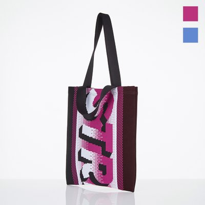 [S.K.N] Pixel logo flat shopper bag (2color)