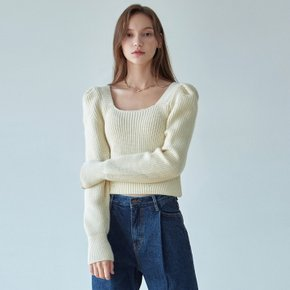 BUBBLE LINE KNIT_CREAM