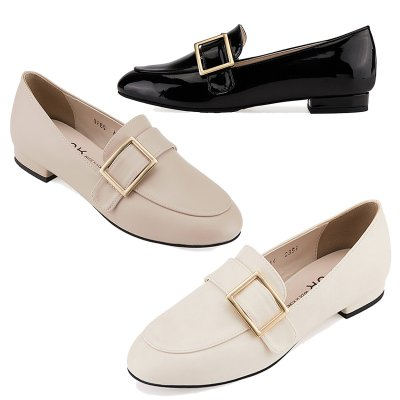 로퍼 MS7016 Frame belted loafer 아이보리
