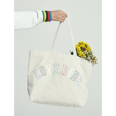 [BPS X STEREO VINYLS] Unisex 베이지 LOVE RIDE 토트백 (BO01D4WS4A)