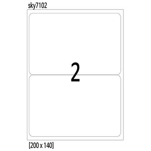 라벨지 2칸 200x140 100매-스카이라벨 무료배송  8031fc186d02