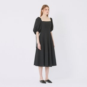 SSG특별혜택가 [가브리엘리] 19SS SQUARE-NECK MIDI DRESS - BLACK