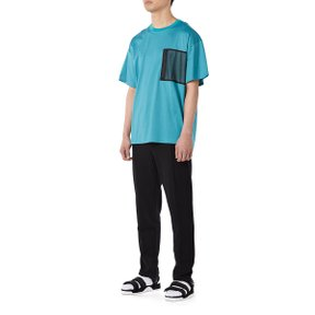 MESH POCKET BIG TEE - TURQUOISE