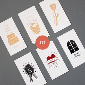 message card - 6 type set