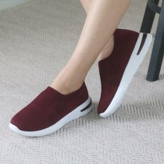 kami et muse Back lettering point knit slip on_KM19w003