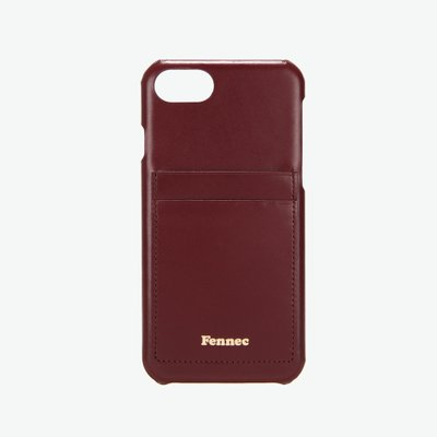 [A LAND]Fennec Leather iPhone7/8 Card Case-Wine