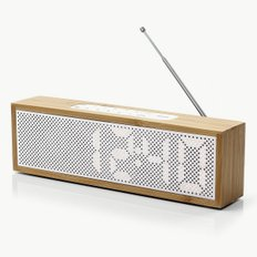 TITAN LED CLOCK RADIO 밤부 화이트