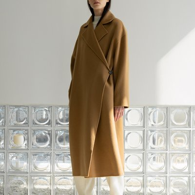handmade one-button coat (camel)