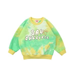 Say cheese tie-dyeing sweatshirt
