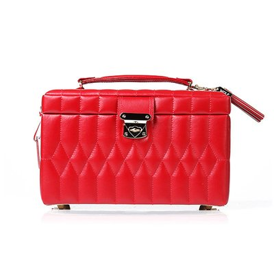 WOLF 울프 329772 Caroline Medium Box Red 보석함 Jewel Box