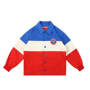 Icebiscuit tennis emblem color block coach jacket