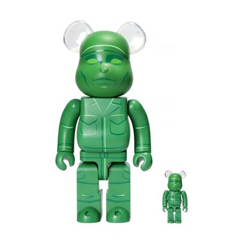 400%+100% BEARBRICK GREEN ARMY MEN