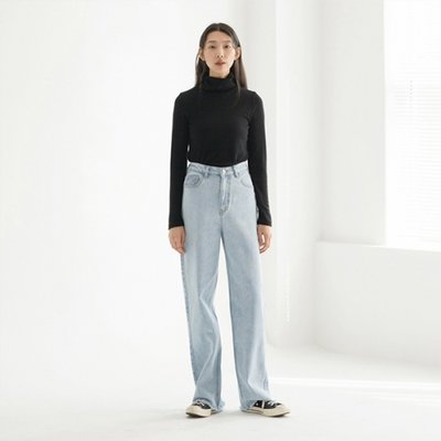 High-waist Crop Jean - Blue