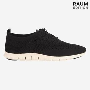 [COLE HAAN] WFW ZEROGRAND STITCH LITE OX BLACK KNIT/LEATHER/IVORY [WIDTH:B] CHSO7E114BK