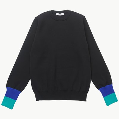 TURN UP CUFF KNIT BLACK
