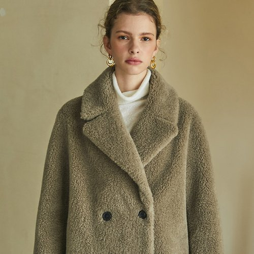 [블랭크공삼]reversible wool shearing coat (gray)