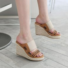 kami et muse Punchig band espadrille wedge slippers_KM18s285