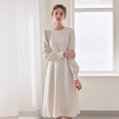 FLARE ROBE LONG OPS_CREAM