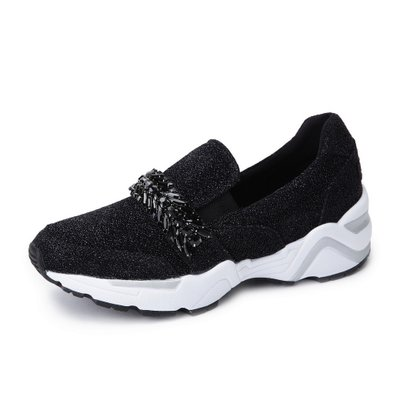 [suecommabonnie] Glitter crystal slip-on(black) _DG4DX17508BLK