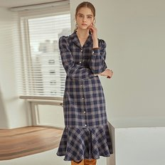 TARTAN LONG OPS_NAVY CHECK