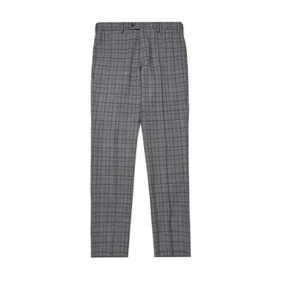 modern check suit pants_C9FCM18451GYX
