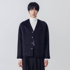 트와_MAN CASHMERE V-NECK JACKET(DARK NAVY)