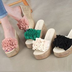 kami et muse Corsage platform wedge slippers_KM18s196