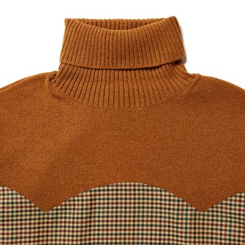 SHIRT MIX TURTLE NECK KNIT 건클럽체크