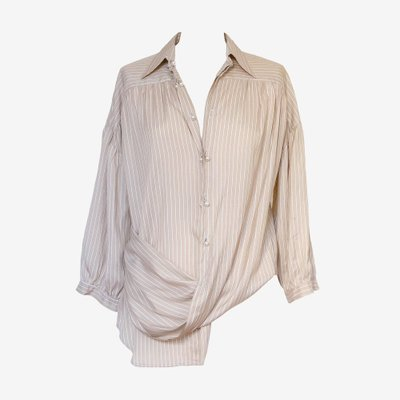ANNA GALAGANENKO 안나갈라가넨코 TWISTED SILK BLOUSE AG-AW19-31
