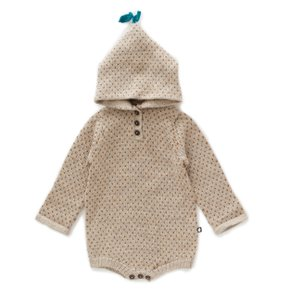 hooded dot onesie / OU19FRO03LG
