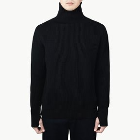 NAVY TURTLENECK BLACK