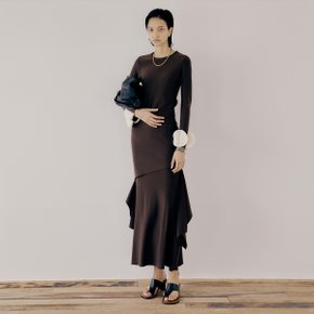 Asymmetric Skirt_Choco Brown